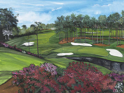 The 16th At Augusta Original by Donna Mann
