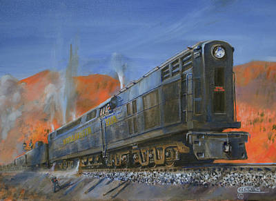 Train Painting - The 2300 by Christopher Jenkins