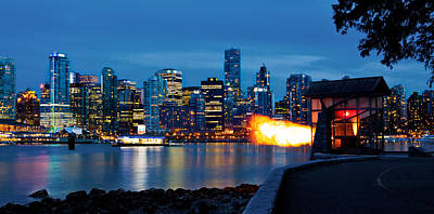 Vancouver Photograph - The 9 O'clock Gun In Vancouver by Alexis Birkill