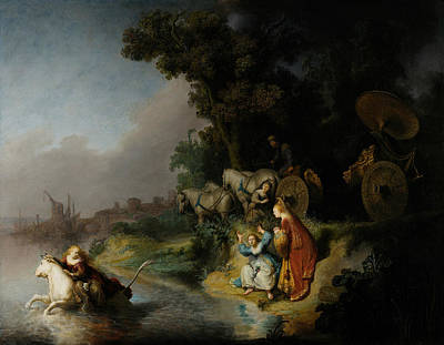 Abduction Painting - The Abduction Of Europa by Rembrandt