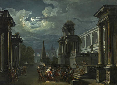 Painting - The Abduction Of Helen by Giovanni Paolo Panini
