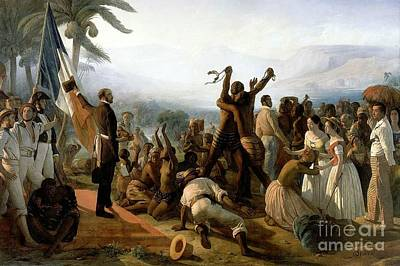 Abolition Painting - The Abolition Of Slavery In The French Colonies  by Francois Biard
