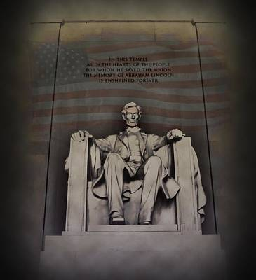 Lincoln Memorial Digital Art - The Abraham Lincoln Memorial by Bill Cannon