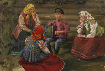 Festival Painting - The Accordion Player by Celestial Images