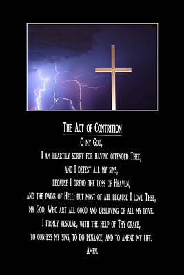 Christ Photograph - The Act Of Contrition Prayer by James BO  Insogna