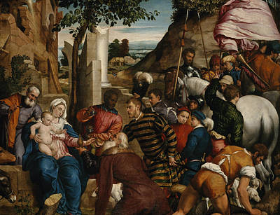 The King Painting - The Adoration Of The Kings by Jacopo Bassano