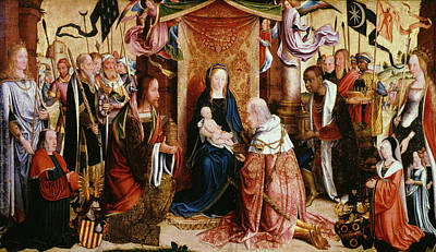 Master Painting - The Adoration Of The Kings by Master of Saint Severin
