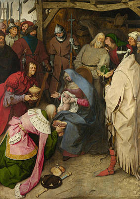 The King Painting - The Adoration Of The Kings by Pieter Bruegel the Elder