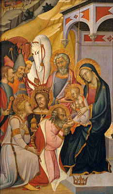 Painting - The Adoration Of The Magi by Bartolo di Fredi