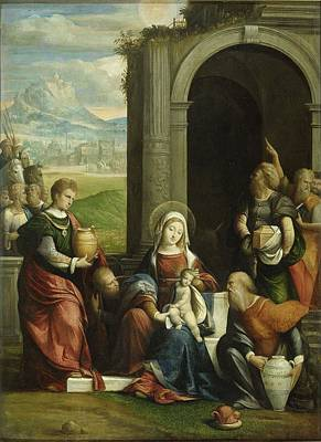 Painting - The Adoration Of The Magi by Benvenuto Tisi