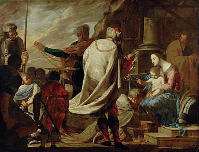 Painting - The Adoration Of The Magi by Bernardo Cavallino