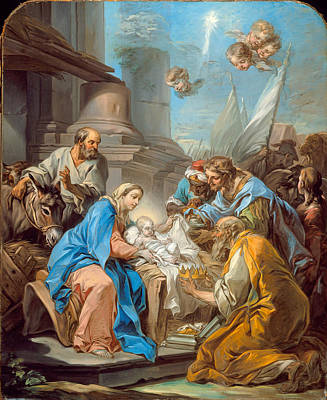 Adoration Magi Painting - The Adoration Of The Magi by Charles-Andre van Loo