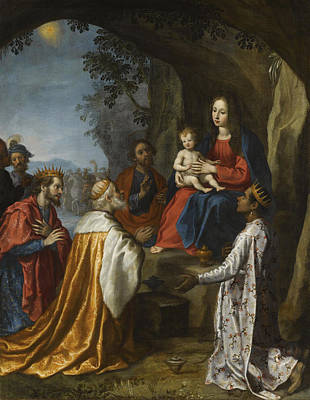 Adoration Magi Painting - The Adoration Of The Magi by Francesco Curradi
