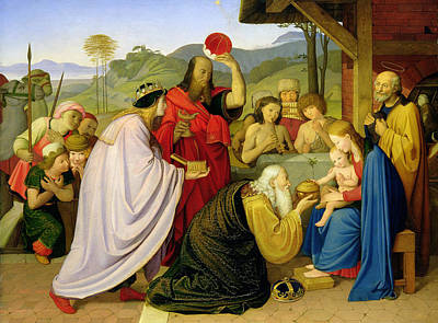 Friedrich Overbeck Painting - The Adoration Of The Magi by Friedrich Overbeck