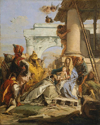 Adoration Magi Painting - The Adoration Of The Magi by Giovanni Battista Tiepolo