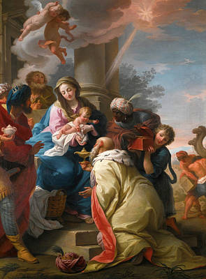 Adoration Magi Painting - The Adoration Of The Magi by Giuseppe Peroni