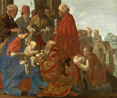 Adoration Magi Painting - The Adoration Of The Magi by Hendrick ter Brugghen