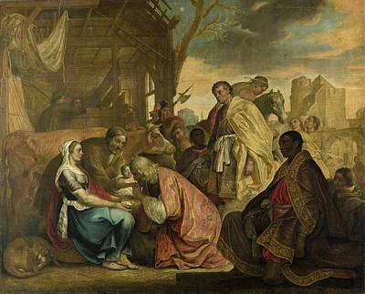 Adoration Magi Painting - The Adoration Of The Magi by Joris van Schooten