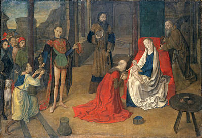 Painting - The Adoration Of The Magi by Justus van Gent