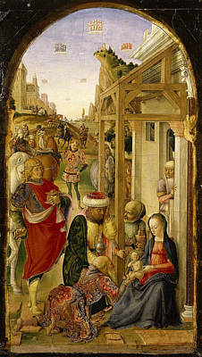 Lazzaro Bastiani Painting - The Adoration Of The Magi by Lazzaro Bastiani