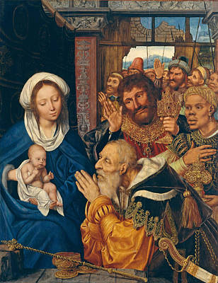 Adoration Magi Painting - The Adoration Of The Magi by Quentin Matsys