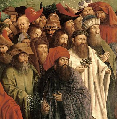The Adoration Of The Mystic Lamb Print by Van Eyck