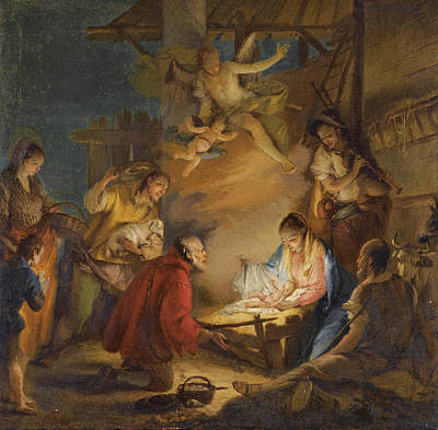 Painting - The Adoration Of The Shepherds by Francesco Zugno