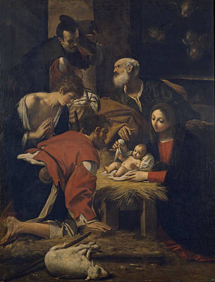 Painting - The Adoration Of The Shepherds by Giacomo Cavedone