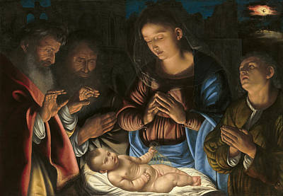 Giovanni Gerolamo Savoldo Painting - The Adoration Of The Shepherds by Giovanni Gerolamo Savoldo