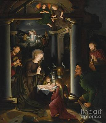 16th Century Painting - The Adoration Of The Shepherds by Celestial Images