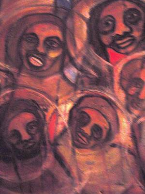 Weusi Art Mixed Media - The African Family In America by Robert Daniels
