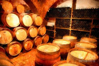Winery Photograph - The Aging Room by Edward Fielding