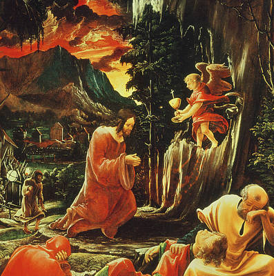 The Agony In The Garden Print by Albrecht Altdorfer