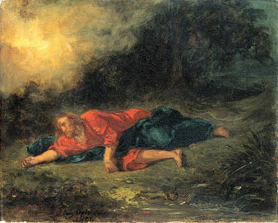 Painting - The Agony In The Garden by Eugene Delacroix
