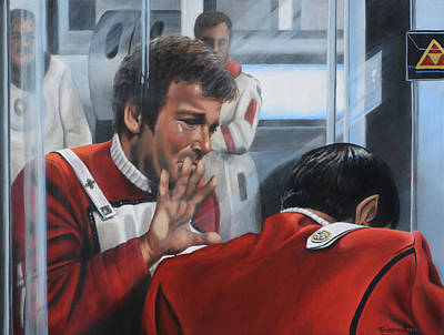 Star Trek Painting - The Agony Of Loss by Kim Lockman