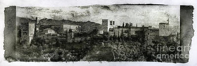 The Alhambra Palace Gum Bichromate Print by Guido Montanes Castillo