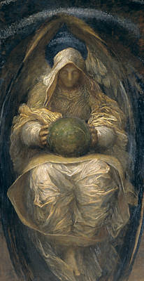 George The Painter Painting - The All-pervading by George Frederic Watts