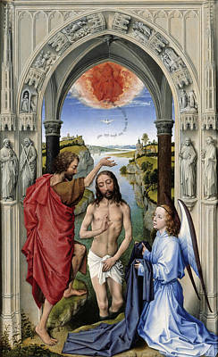 The Altar Of St. John, Center Panel Print by Rogier van der Weyden