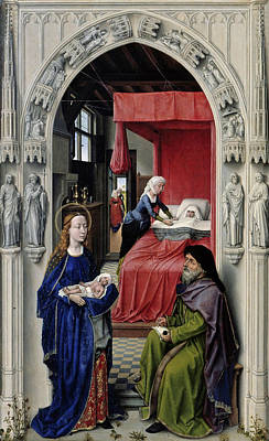 The Altar Of St. John, Left Panel Print by Rogier van der Weyden