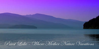 Seascape Photograph - The Amazing Priest Lake by David Patterson