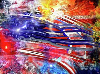 Abstract American Flag Painting - The American Flag Painted by Daniel Janda