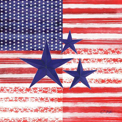 The Americana Flag Original by Colleen Taylor