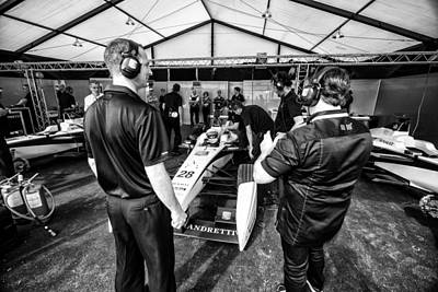Andretti Photograph - The Andretti Team by Kevin Cable