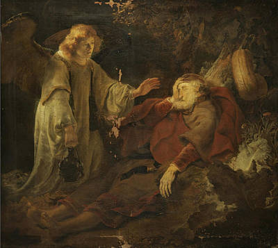 Elijah Painting - The Angel Appearing To Elijah by Ferdinand Bol