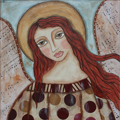 Christian Art . Devotional Art Painting - The Angel Of Hope by Rain Ririn
