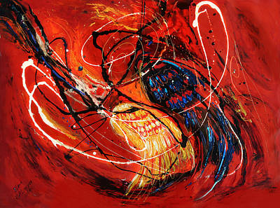 Painting - The Angel Wings #2 Duality Of Truth by Elena Kotliarker