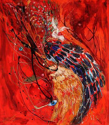 Painting - The Angel Wings #6. Duality Of Truth II by Elena Kotliarker