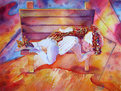 The Angel's Nap Print by Estela Robles