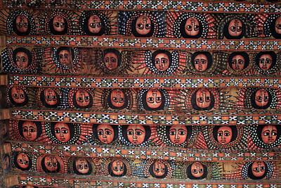 Religious Art Photograph - The Angels Of Debre Birhan Selassie Church by Aidan Moran