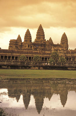 The Angkor Wat Temples In Siem Reap Print by Richard Nowitz